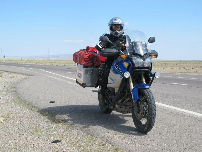rider on Yamaha Tenere Iran