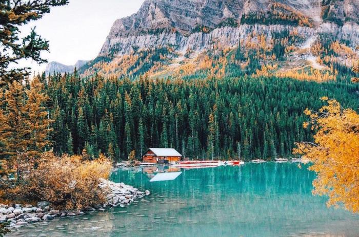 Fall in Lake Louise